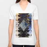 southwest V-neck T-shirts featuring Frosted Southwest by North 10 Creations