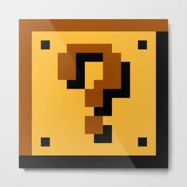 Super Mario question mark block Metal Print