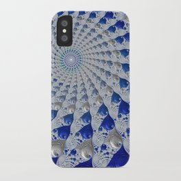Tunnel Vision Blue iPhone Case