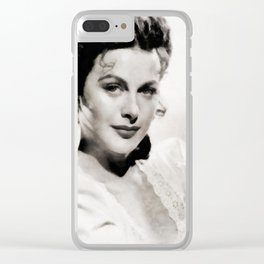 Hedy Lamarr, Vintage Actress Clear iPhone Case