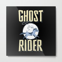 The Ghost Rider Metal Print