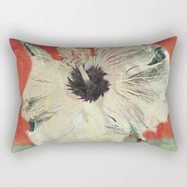 Pale Yellow, Floral Fairy, Flower Goddess, Green, Orange, Blue, Abstract Rectangular Pillow