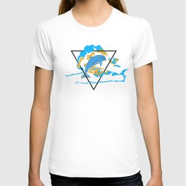Dolphin in water element T-shirt