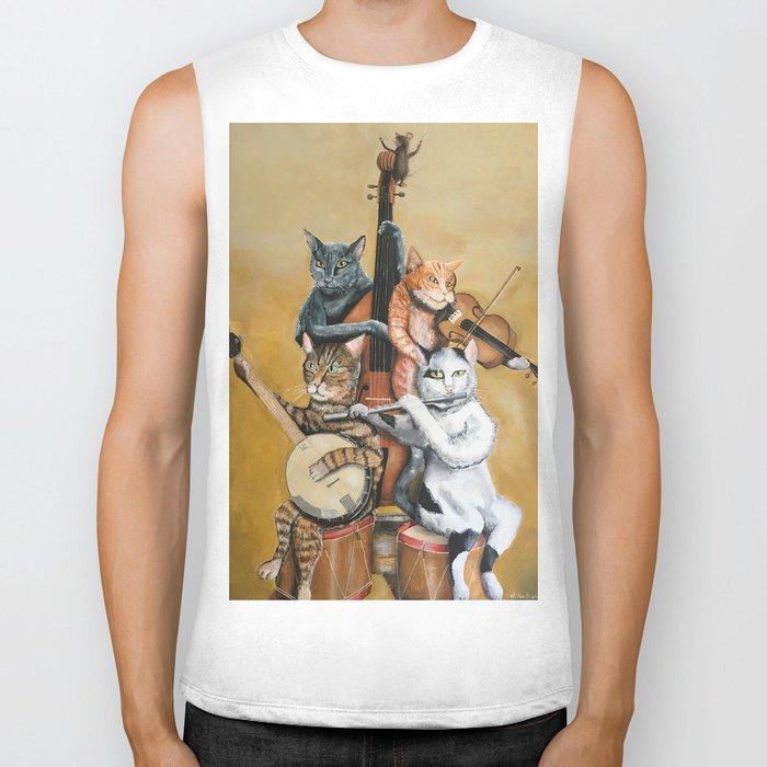 Cat Quartet Biker Tank