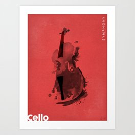 Symphony Series: Cello Art Print