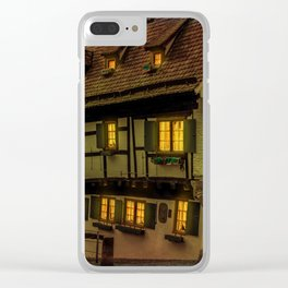 Hotel crooked house Ulm Clear iPhone Case