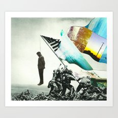 Land of the free home of the brave. Art Print