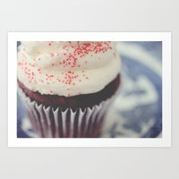 cupcake Art Prints featuring cupcake by Beverly LeFevre
