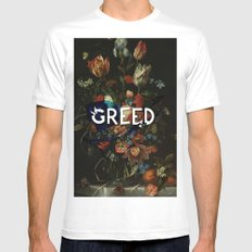 Greed Mens Fitted Tee White MEDIUM