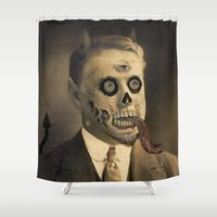 satan Shower Curtains featuring Satan by Beery Method
