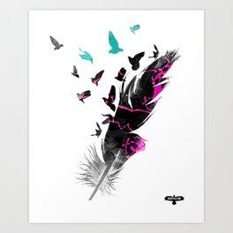 PAINTING BIRDS Art Print