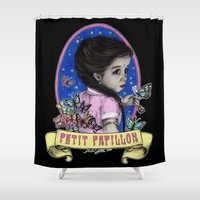 ahs Shower Curtains featuring Ma Petite (color) by marziiporn