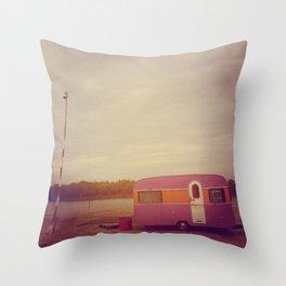 Faded Caravan Throw Pillow