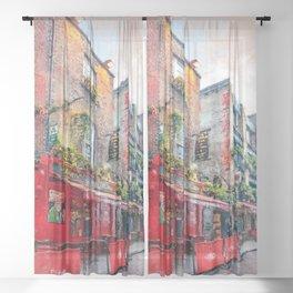 Dublin art #dublin Sheer Curtain