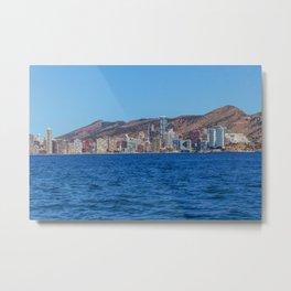 Benidorm city and sea Metal Print