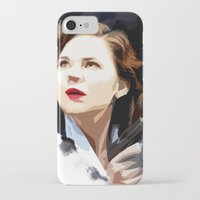 peggy carter iPhone & iPod Cases featuring Peggy Carter by Ms. Givens