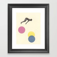 High Dive Framed Art Print