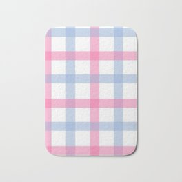 Pink and Blue Gingham Bath Mat