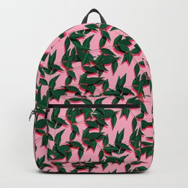 Plant leafs on pink Backpack