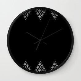Spikes (Black) Wall Clock