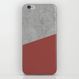Concrete with Chili Oil Color iPhone Skin