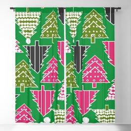 Festive Christmas trees Blackout Curtain