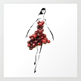 Edible Ensembles: Cherry Bombe Art Print