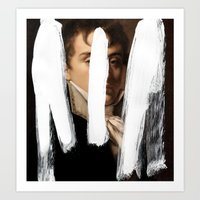 Brutalized Portrait of a Gentleman 2 Art Print