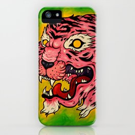 Wrath of the Pink Tigress iPhone Case