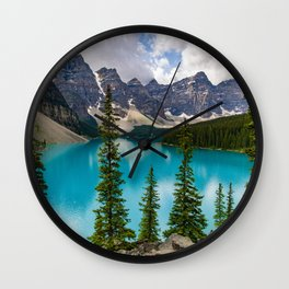 Lake Moraine - Banff, Alberta Wall Clock