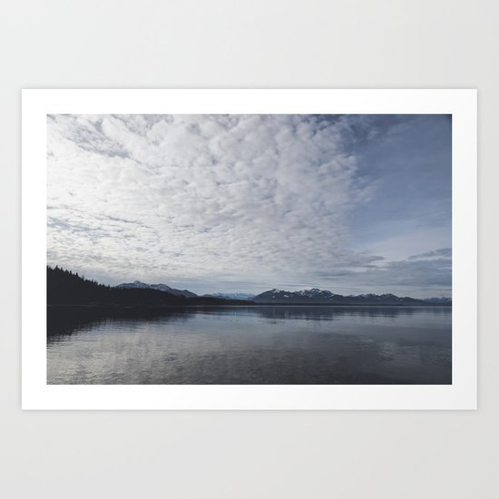 Lake and mountains - High and low - Landscape Photography Art Print