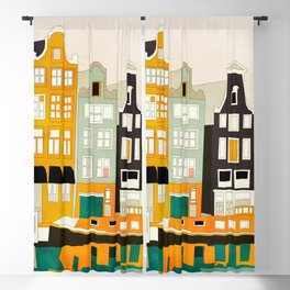 Amsterdam travel city shapes abstract Blackout Curtain