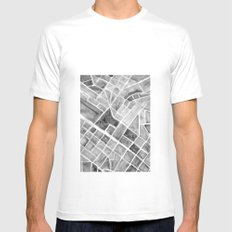 city plan White MEDIUM Mens Fitted Tee