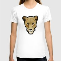lesbian T-shirts featuring The Lesbian & the Lioness by BinaryGod.com