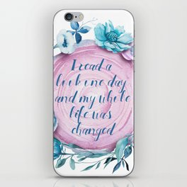I read a book one day tree rings design iPhone Skin