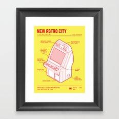 ARCADE CAB - NEW ASTRO CITY Framed Art Print