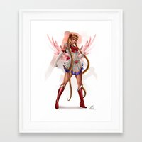 sailor moon Framed Art Prints featuring Sailor Moon by KlsteeleArt