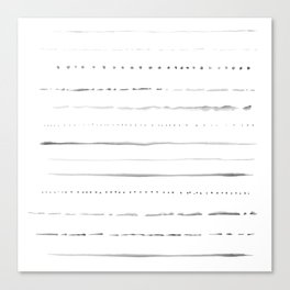 Minimalist Lines in Gray Canvas Print