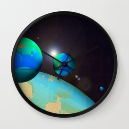 personal planets orbit dying earth Wall Clock