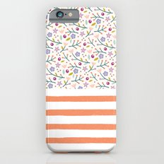Flowers & Stripes iPhone 6 Slim Case