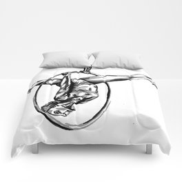 Black and White Hoop Comforters