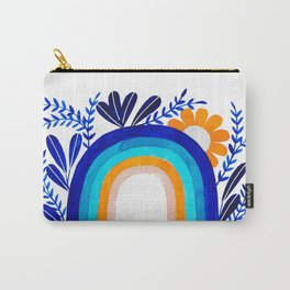 blue & orange rainbow botanical illustration Carry-All Pouch