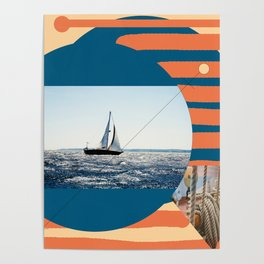 Marine, sailing in summer Poster