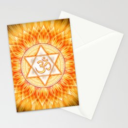 Lotos Sun Om Stationery Cards