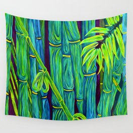 ʻOhe Polū - Blue Bamboo Wall Tapestry