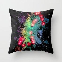 The Zodiac Sign -- Scorpio Throw Pillow