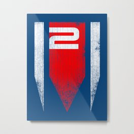 ME2 - Mass Effect Metal Print