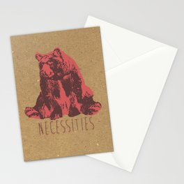 Bear Necessities Stationery Cards