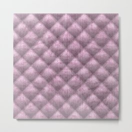 Quilted Pale Mauve Velvety Pattern Metal Print