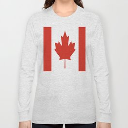 red maple leaf flag of Canada Long Sleeve T-shirt